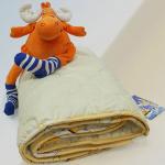 детское всесезонное одеяло из натуральной овечьей шерсти мериноса Забавная Овечка Nature's (Натурес), Россия