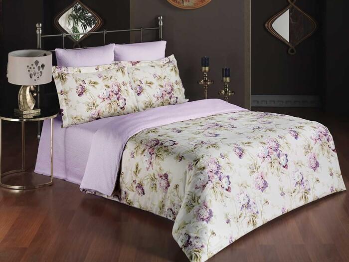 LILI MARLEN. Постельное белье Сатин, Хлопок. Комплект постельного белья сатин -100 хлопок. Постельное белье Karna  (Карна), Турция