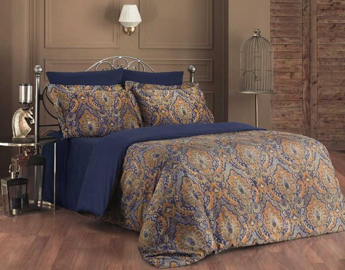 SULTAN. Постельное белье Сатин, Хлопок. Комплект постельного белья сатин -100 хлопок. Постельное белье Karna  (Карна), Турция