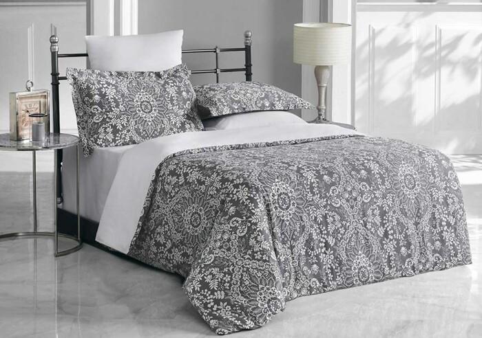 PALATSO. Постельное белье Сатин, Хлопок. Комплект постельного белья сатин -100 хлопок. Постельное белье Karna  (Карна), Турция