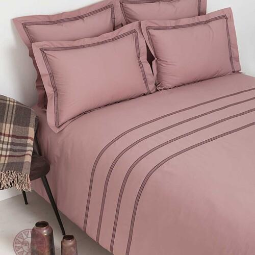 Постельное белье перкаль «АКЦЕНТ» (карминово-розовый). 100% хлопок. «Luxberry» («Люксберри»), Португалия