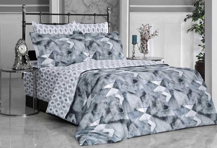 ORION. Постельное белье Сатин, Хлопок. Комплект постельного белья сатин -100 хлопок. Постельное белье Karna  (Карна), Турция