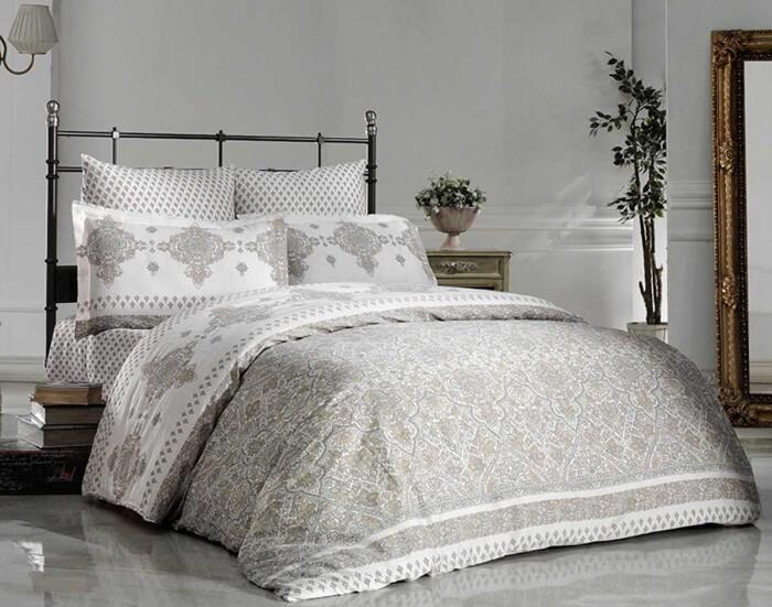PETRA. Постельное белье Сатин, Хлопок. Комплект постельного белья сатин -100 хлопок. Постельное белье Karna  (Карна), Турция