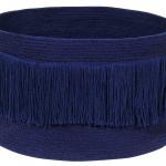 Корзина с бахромой Аляска синяя 2545-1 Хлопковая декоративная корзина 100 хлопок. Lorena Canals , Испания