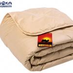 Всесезонное стеганое одеяло из 100% монгольской верблюжьей шерсти. Производство Россия, Москва ТМ «Лежебока»