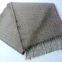 Шерстяной плед с кистями Incalpaca PBA-6. Плед 100% шерсть альпака. Производитель ТМ Incalpaca (Инальпака), Перу