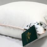 подушка пуховая с внутренним ядром Миндальное Сердечко, Nature's (Натурес), Россия