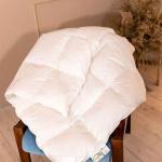 «Белый Гусенок» Детское пуховое одеяло. Всесезонное пуховое кассетное одеяло. Наполнитель элитный белый гусиный пух категории Премиум (95% пух, 5% мелкое перышко). ТМ «Серафимовская Пушинка», Россия