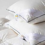 «Ирис». Пуховая подушка белый гусиный пух, мелкое перо. ТМ «Серафимовская Пушинка», Россия