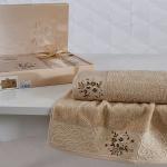 Комплект махровых полотенец KARNA VIOLA (Капучино) 50x90-70х140 см. Состав 100% хлопок. Производство ТМ «Karna» (Карна), Турция