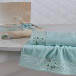 Комплект махровых полотенец KARNA VIOLA (Светло-Зеленый) 50x90-70х140 см. Состав 100% хлопок. Производство ТМ «Karna» (Карна), Турция
