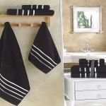 Комплект махровых полотенец KARNA BALE (Черный) 50x80 см (2шт) -70х140 (2 шт). Состав 100% хлопок. Производство ТМ «Karna» (Карна), Турция