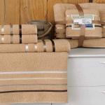 Комплект махровых полотенец KARNA BALE (Горчичный) 50x80 см (2шт) -70х140 (2 шт). Состав 100% хлопок. Производство ТМ «Karna» (Карна), Турция