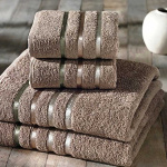 Комплект махровых полотенец KARNA BALE (Кофейный) 50x80 см (2шт) -70х140 (2 шт). Состав 100% хлопок. Производство ТМ «Karna» (Карна), Турция