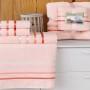 Комплект махровых полотенец KARNA BALE (Пудра) 50x80 см (2шт) -70х140 (2 шт). Состав 100% хлопок. Производство ТМ «Karna» (Карна), Турция