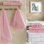 Комплект махровых полотенец KARNA BALE (Розовый) 50x80 см (2шт) -70х140 (2 шт). Состав 100% хлопок. Производство ТМ «Karna» (Карна), Турция