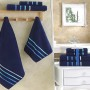 Комплект махровых полотенец KARNA BALE (Синий) 50x80 см (2шт) -70х140 (2 шт). Состав 100% хлопок. Производство ТМ «Karna» (Карна), Турция