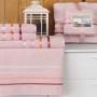 Комплект махровых полотенец KARNA BALE (Светло-Розовый) 50x80 см (2шт) -70х140 (2 шт). Состав 100% хлопок. Производство ТМ «Karna» (Карна), Турция