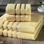 Комплект махровых полотенец KARNA BALE (Желтый) 50x80 см (2шт) -70х140 (2 шт). Состав 100% хлопок. Производство ТМ «Karna» (Карна), Турция