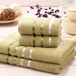 Комплект махровых полотенец KARNA BALE (Зеленый) 50x80 см (2шт) -70х140 (2 шт). Состав 100% хлопок. Производство ТМ «Karna» (Карна), Турция