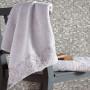 Комплект махровых полотенец KARNA ELINDA (Бежевый) 50x90-70х140 см. Состав 100% хлопок. Производство ТМ «Karna» (Карна), Турция