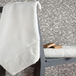 Комплект махровых полотенец KARNA ELINDA (Кремовый) 50x90-70х140 см. Состав 100% хлопок. Производство ТМ «Karna» (Карна), Турция