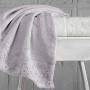 Комплект махровых полотенец KARNA ELINDA (Кремовый-Бежевый) 50x90 см (2шт). Состав 100% хлопок. Производство ТМ «Karna» (Карна), Турция