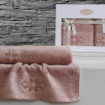 омплект махровых полотенец KARNA GALATA (Грязно-Розовый) 50x90-70х140 см. Состав 100% хлопок. Производство ТМ «Karna» (Карна), Турция