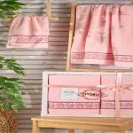 Комплект махровых полотенец PUPILA жаккард DREAM (Светло-Розовый) 50x90-70х140 см. Состав 100% хлопок. Производство ТМ «PUPILA», Турция