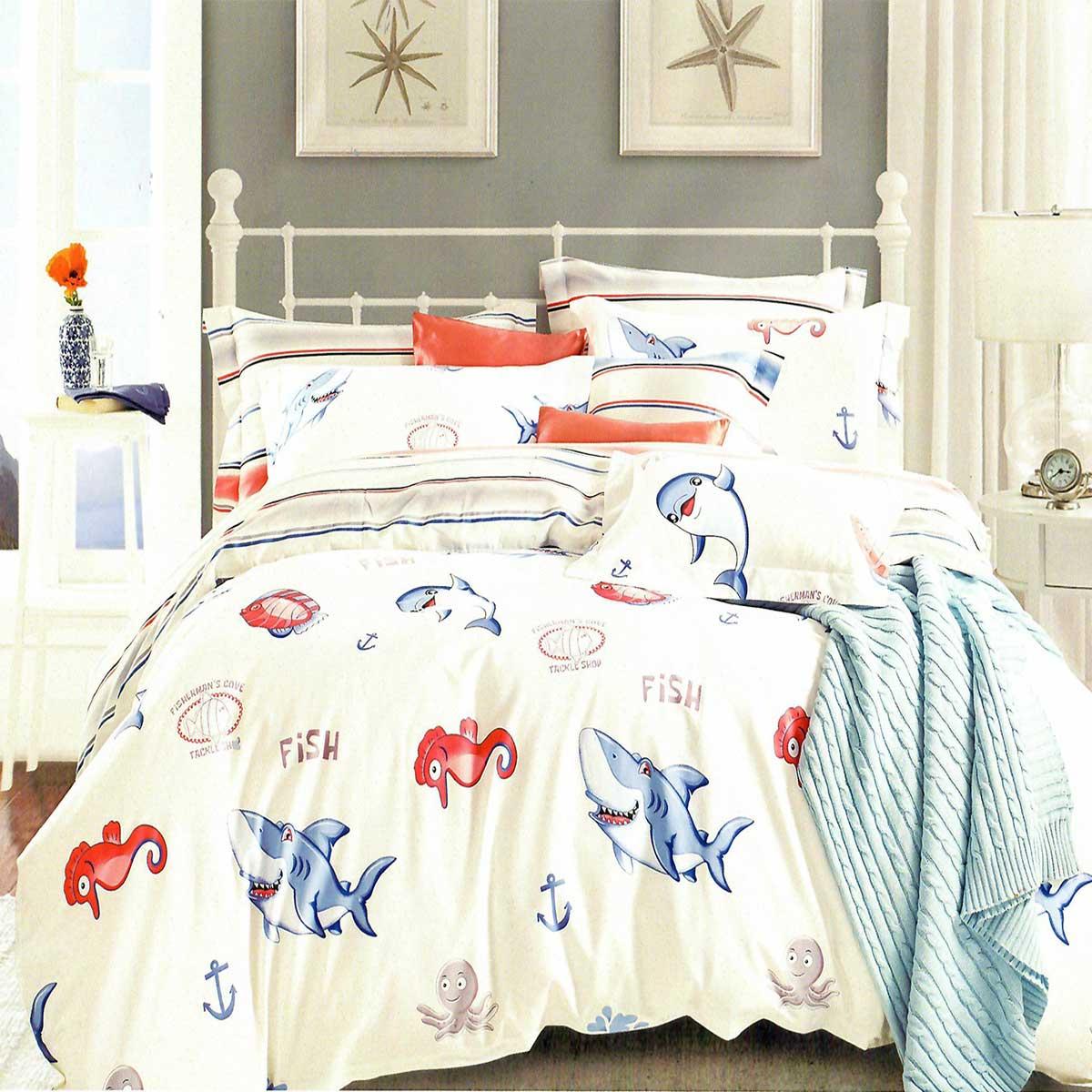 «SEARLE». Комплект детского постельного белья 100% хлопок (сатин). Пододеяльник 160×220, наволочки 50×70 (2 шт.), простыня 160х230. Производство Турция, «Karna» («Карна»)