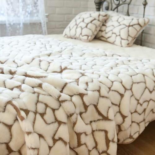 Шерстяной плед «Жираф». Плед из 100% шерсти мериноса. Производитель ТМ «Magicwool», Россия