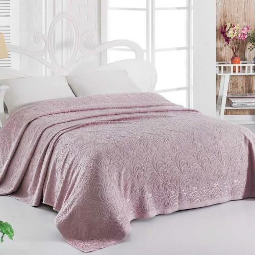 ESRA (грязно-розовый) Простынь махровая. Состав 100% хлопок. Ткань махра. Производство ТМ «Karna» («Карна»). Турция