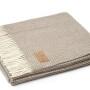 Мягкий шерстяной плед с кистями «Asmana 400 3». Состав 90% пух ягненка мериноса, 10% кашемир. Производство ТМ «Italian Woolen Treasures». Италия