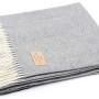 Мягкий шерстяной плед с кистями «NITRA RESCA 7». Состав 80% пух ягненка мериноса, 20% кашемир. Производство ТМ «Italian Woolen Treasures». Италия