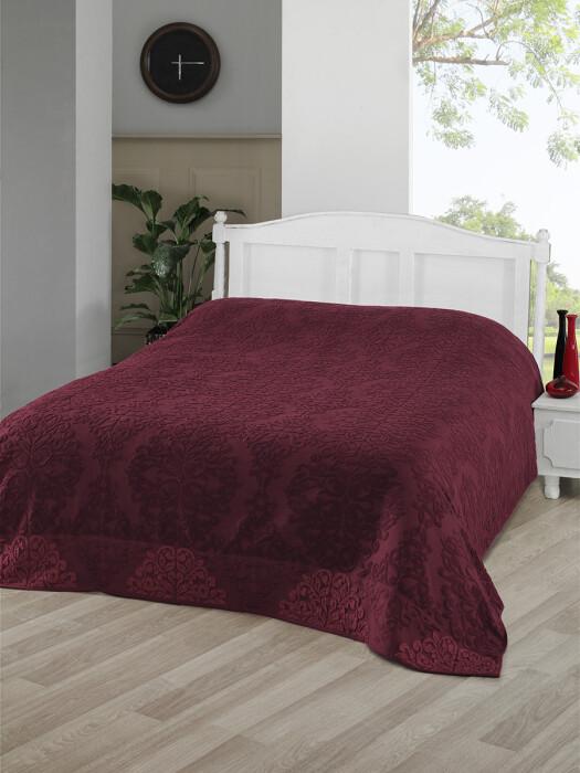 OTTOMAN (бордовый) Простынь махровая. Состав 100% хлопок. Ткань махра. Производство ТМ «Karna» («Карна»). Турция