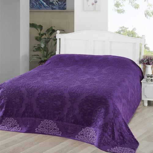 OTTOMAN (фиолетовый) Простынь махровая. Состав 100% хлопок. Ткань махра. Производство ТМ «Karna» («Карна»). Турция