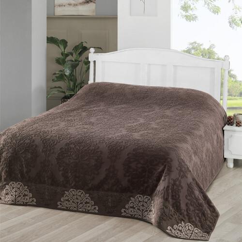 OTTOMAN (темно-коричневый) Простынь махровая. Состав 100% хлопок. Ткань махра. Производство ТМ «Karna» («Карна»). Турция