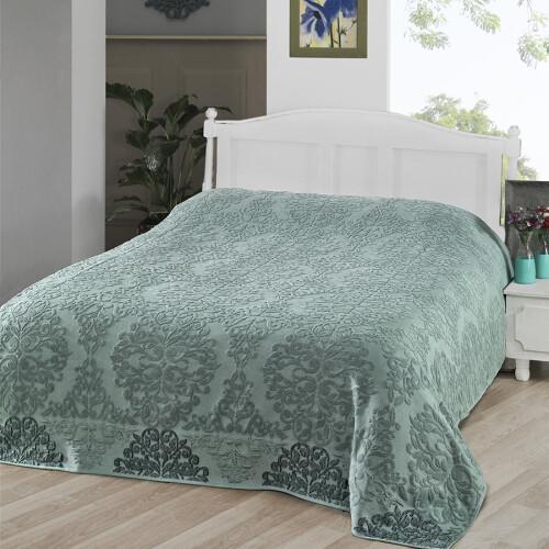 OTTOMAN (зеленый) Простынь махровая. Состав 100% хлопок. Ткань махра. Производство ТМ «Karna» («Карна»). Турция