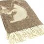 Шерстяной плед с кистями Incalpaca PJ-1. Плед 55% шерсть альпака, 45% шерсть мериноса. Производитель ТМ Incalpaca (Инальпака), Перу