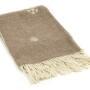 Шерстяной плед с кистями Incalpaca PJ-2. Плед 55% шерсть альпака, 45% шерсть мериноса. Производитель ТМ Incalpaca (Инальпака), Перу