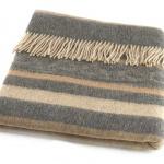 Шерстяной плед с кистями Incalpaca PP-56. Плед 55% шерсть альпака, 45% шерсть мериноса. Производитель ТМ Incalpaca (Инальпака), Перу