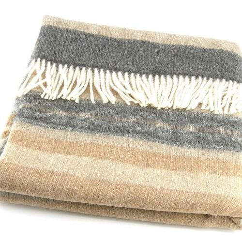 Шерстяной плед с кистями Incalpaca PP-57. Плед 55% шерсть альпака, 45% шерсть мериноса. Производитель ТМ Incalpaca (Инальпака), Перу