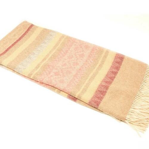 Шерстяной плед с кистями Incalpaca PP-58. Плед 55% шерсть альпака, 45% шерсть мериноса. Производитель ТМ Incalpaca (Инальпака), Перу