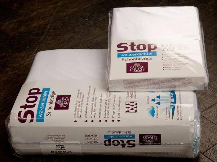 «Stop Grass» наволочка махровая. Ткань махровая-хлопковая. 80% хлопок, 20% POLYURETHAN. ТМ «German Grass» («Герман Грасс»), Австрия