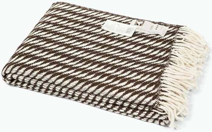 Шерстяной плед с кистями Kapri. 50% шерсть альпака, 50% шерсть мериноса.  Производитель Silkeborg, Дания