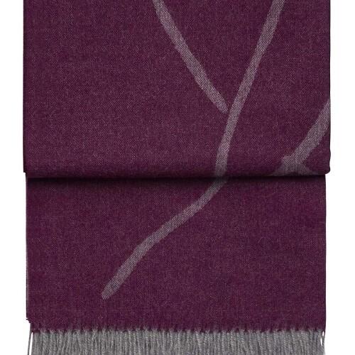 Шерстяной плед с кистями 6121 WILDFLOWER passionlight grey. 100 шерсть беби альпака перу. Производитель ТМ Elvang, Дания