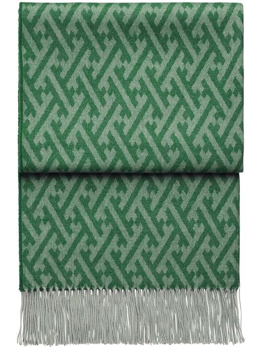 Шерстяной плед с кистями 6140 AMAZING emeraldlake. 100  шерсть беби альпака перу. Производитель ТМ Elvang, Дания