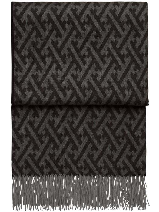 Шерстяной плед с кистями 6142 AMAZING throw blackgrey. 100  шерсть беби альпака перу. Производитель ТМ Elvang, Дания