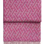 Шерстяной плед с кистями 6144 AMAZING swing pinkdahlia. 100 шерсть беби альпака перу. Производитель ТМ Elvang, Дания