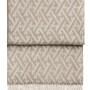 Шерстяной плед с кистями 6145 AMAZING beigewhite. 100 шерсть беби альпака перу. Производитель ТМ Elvang, Дания